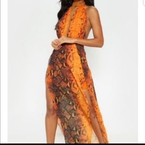 Orange Maxi Dress Size 8